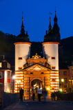 Carl Theodor Old Bridge in Heidelberg at night Stock Photography