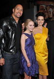 Carla Gugino,  Anna Sophia Robb, Dwayne Johnson, Mountain Royalty Free Stock Image