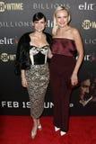 Carla Gugino, Malin Akerman. Actresses Carla Gugino L and Malin Akerman attend the `Billions` Season Two Premiere at Cipriani`s on February 13, 2017 in New York Stock Photos
