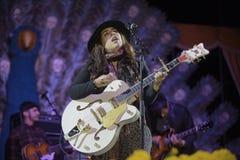 Carla Morrison on guitar Stock Photos