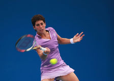 carla navarro西班牙星形苏亚雷斯网球 免版税库存图片