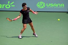 Carla Suarez Navaro Preparing a Forehand Return Stock Photography