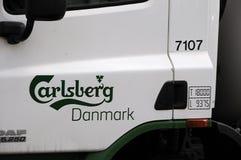 CARLBERG-ÖLLASTBIL OCH FREDAGAR AMERIKANSKT STÅNG OCH GALLER Royaltyfri Bild