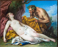 Carle Charles Andre Vanloo, Jupiter and Antiope, Hermitage, royalty free stock photo