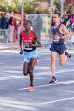 Carles Castillejo of Spain and Michael Bett of Kenya. Carles Castillejo of Spain,Michael Bett of Kenya,10000m, 92nd Jean Bouin Running events , 23.nov. 2015 in Stock Photos