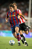 Carles Puyol. Futbol Club Barcelona captain Carles Puyol during Spanish Supercup football match between Barcelona vs Athletic Bilbao at the New Camp Stadium in Stock Photos