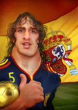 Carles Puyol Caricature. For editorial use in newspapers, magazines & web stock photo