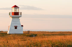 Carleton Lighthouse. During a nice september sunrise Stock Photography