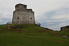 Carleton Martello Tower dans le jour nuageux Image libre de droits