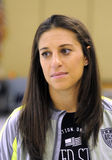 Carli Lloyd. United States Women�s World Cup team midfielder Carli Lloyd of Delran NJ hosts �She believes in her community� event at Hillside stock photo