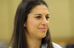 Carli Lloyd. United States Women�s World Cup team midfielder Carli Lloyd of Delran NJ hosts �She believes in her community� event at Hillside royalty free stock image