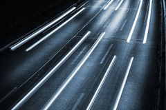 Carlights on highway Royalty Free Stock Images