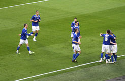 Carling Cup - Cardiff-Feier Lizenzfreie Stockfotos