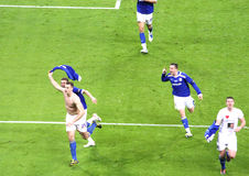 Carling Cup final - Turner last goal celebration Royalty Free Stock Photos