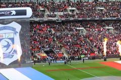 Carling Cup - Liverpool-Eingang Lizenzfreie Stockfotografie