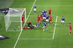 Carling Pokalspiel - Cardiff-Kerben Lizenzfreie Stockfotografie