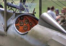 Carlinga británica de WWI SE5a Imágenes de archivo libres de regalías