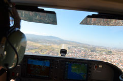 Carlinga de aviones Foto de archivo
