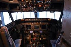 Carlinga de aviones Foto de archivo libre de regalías