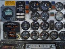 Detalle de un aeroplano viejo Foto de archivo libre de regalías