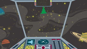 Carlinga de la nave espacial Imagenes de archivo