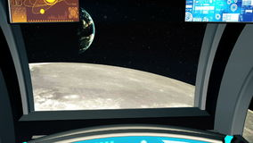 Carlinga de la nave espacial en un punto experimental