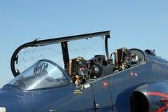 Carlinga del combatiente de jet Imagenes de archivo