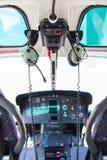 Carlinga del helicóptero Fotos de archivo libres de regalías