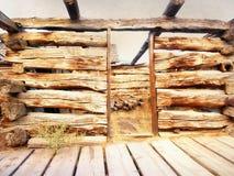 Carlingue abandonnée au Wyoming Image stock