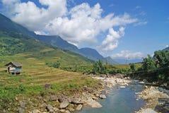 Carlingue dans les montagnes de Sapa Photographie stock