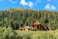 Carlingue de mineurs d'or aux fourchettes le Colorado d'Animas photos stock