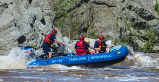 Carlingue John River Rescue Squad sur le fleuve Potomac, le Maryland Images libres de droits