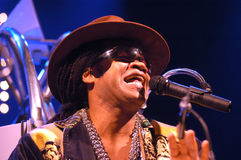 Carlinhos Brown in concert Royalty Free Stock Photo