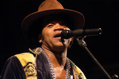Carlinhos Brown in concert Royalty Free Stock Photography