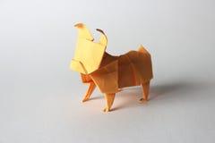 Carlino di origami Immagine Stock Libera da Diritti