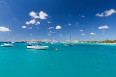 Carlisle Bay in Barbados Stock Image