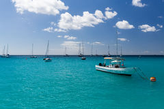Carlisle Bay in Barbados. Carlisle Bay is a small natural harbor located in the southwest region of Barbados. The island nation`s capital, Bridgetown, is Stock Photography