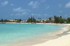 Carlisle Bay in Bridgetown, Barbados Lizenzfreies Stockfoto