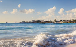Carlisle Bay in Bridgetown, Barbados. It is a small natural harbour that has been turned into a marine park popular for scuba diving Royalty Free Stock Image