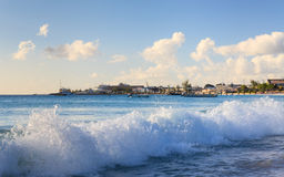 Carlisle Bay in Bridgetown, Barbados Royalty Free Stock Photography
