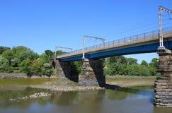 Carlisle Bridge River Lune, Lancaster, Lancashire Fotografia Stock
