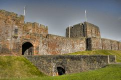Carlisle Castle. Front view Carlisle Castle taken on Remembrace Sunday Stock Photography
