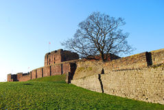 Carlisle Castle (2). Carlisle Castle's old wall Stock Photos