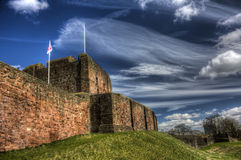 Carlisle Castle HDR. HDR image looking up towards Carlisle Castle in Cumbria, UK Royalty Free Stock Photos
