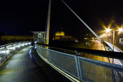 Carlisle Castle la nuit photo stock
