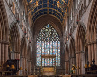 Carlisle Cathedral Nave Altar Stained Glass Stock Image