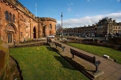 Carlisle Courts och halvmånformigt Royaltyfri Foto
