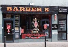 Carlisle, Cumbria, UK - 27 09 2020 Barber Shop in Town Centre