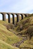 Carlisle för Artengill viaduktDentdale högryggad träsoffa järnväg Royaltyfria Foton