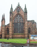 Carlisle Katedralna Zachodnia fasada Zdjęcia Royalty Free